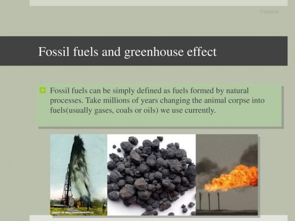 Fossil Fuels and Greenhouse Effect